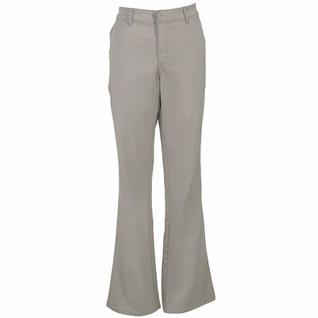Dickies Women's Desert Sand FP121 DS Flat Front Stretch Twill Pants