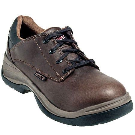 Rocky Shoes: Men's Brown Ergo Tough Waterproof Oxford Work Shoes 5060 Sale $125.00 Item#5060 :