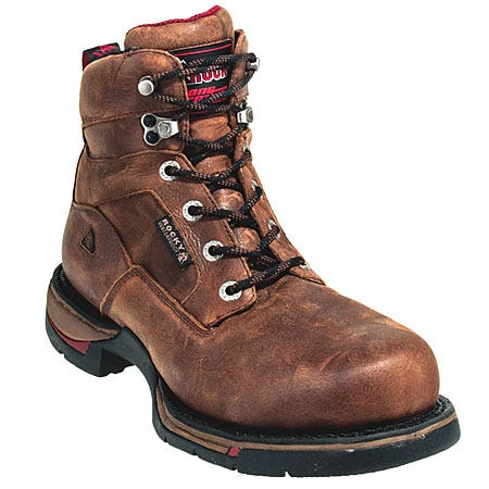 Rocky Boots Men's Brown Long Range Waterproof Work Boots 8878