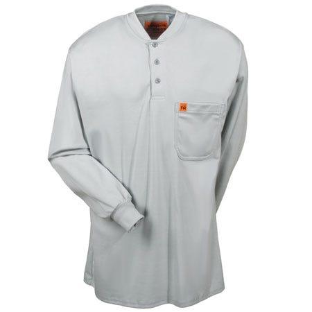 Wrangler Shirts: Men'sFR Henley Grey FR3W8 GY Sale $60.00 Item#FR3W8GY :