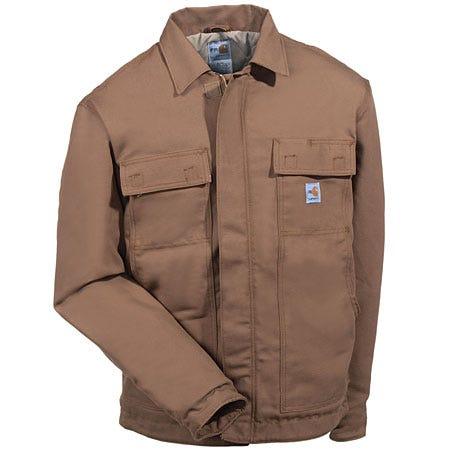 Carhartt Jackets: Men's Insulated Carhartt FR Brown Duck Jacket FRJ003 BRN Sale $193.00 Item#FRJ003BRN :