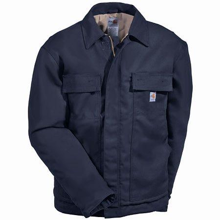 Carhartt Jackets: Men's Navy Flame Resistant Jacket FRJ003 DNY Sale $193.00 Item#FRJ003DNY :