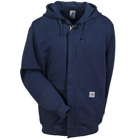 Carhartt Sweatshirts: Men's Navy FR Hooded Sweatshirt FRK007 DNY Sale $155.00 Item#FRK007DNY :