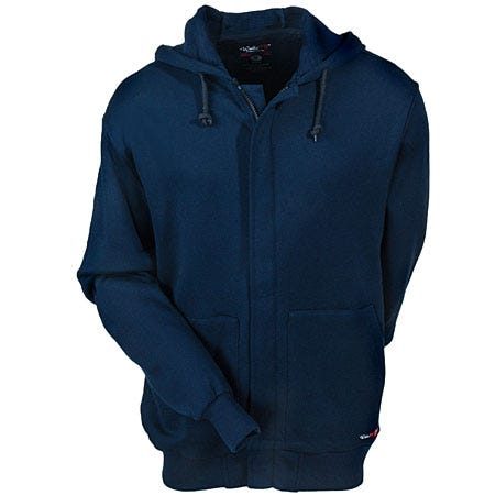 Walls Sweatshirts: Men's Navy FRO37355 NA Flame-Resistant Work Sweatshirt Sale $165.00 Item#FRO37355-NA :