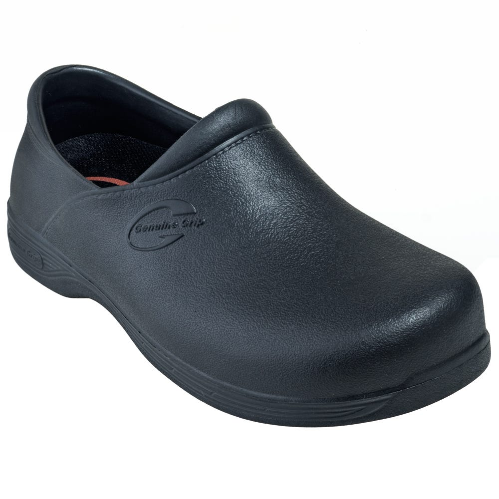Genuine Grip Women's 380 Black Injection Waterproof Slip-On Shoes