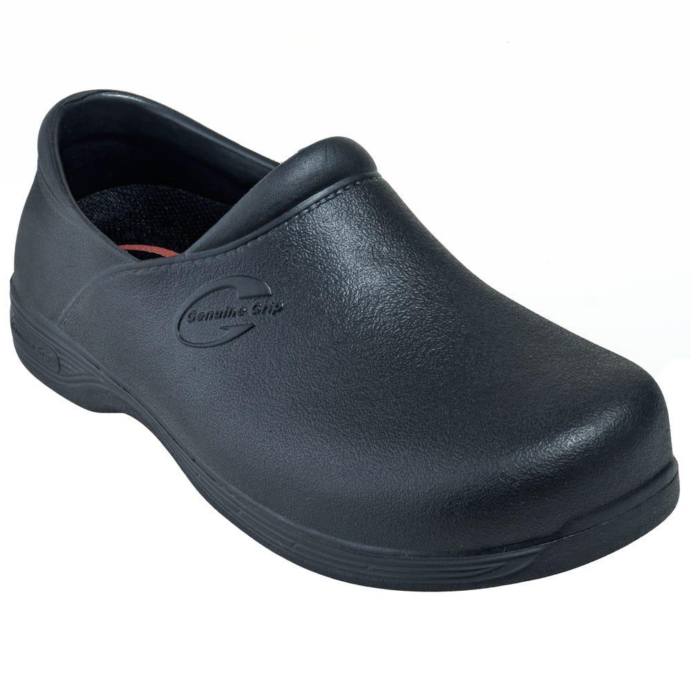 Genuine Grip 3800 Black Slip-Resistant Waterproof Clogs
