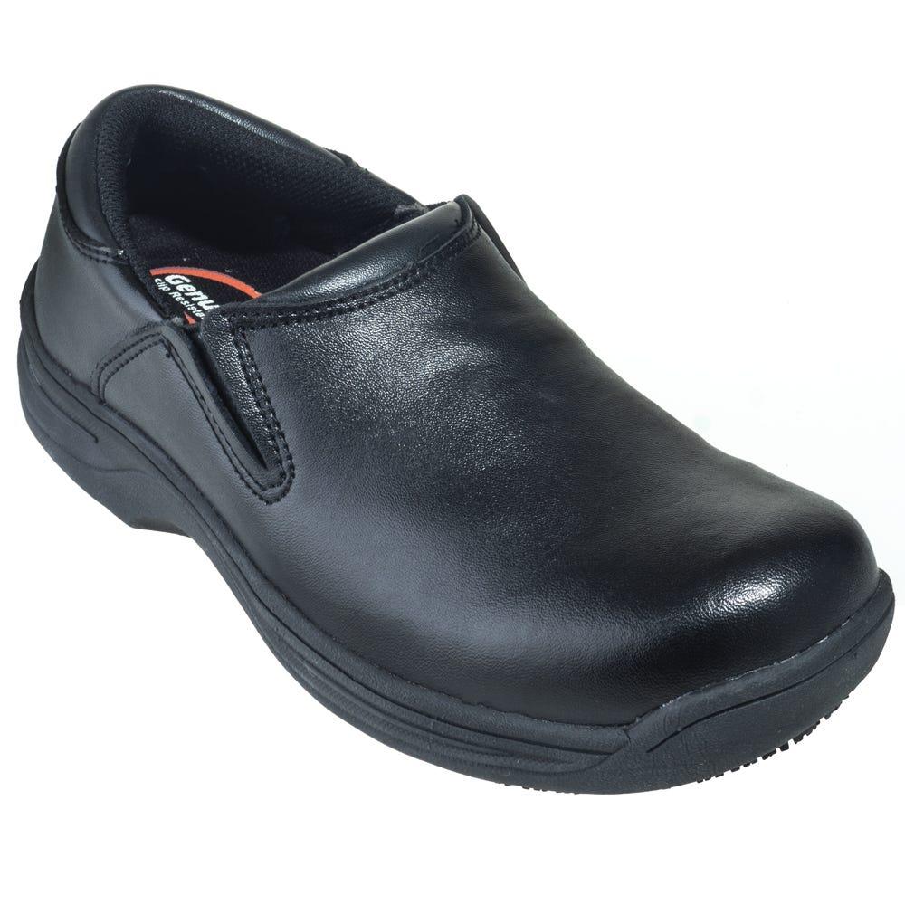 Genuine Grip 4700 Black Water-Resistant Slip-On Shoes