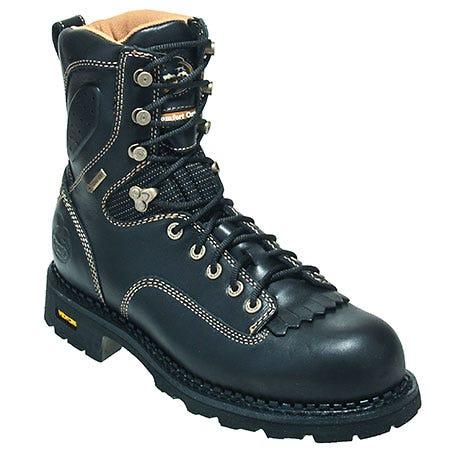 Georgia Boots Men's Black G028 Waterproof Slip Resistant EH Logger Work Boots