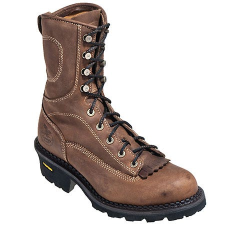 Georgia Boots Men's Brown G056 Composite Toe EH Vibram Sole Logger Boots