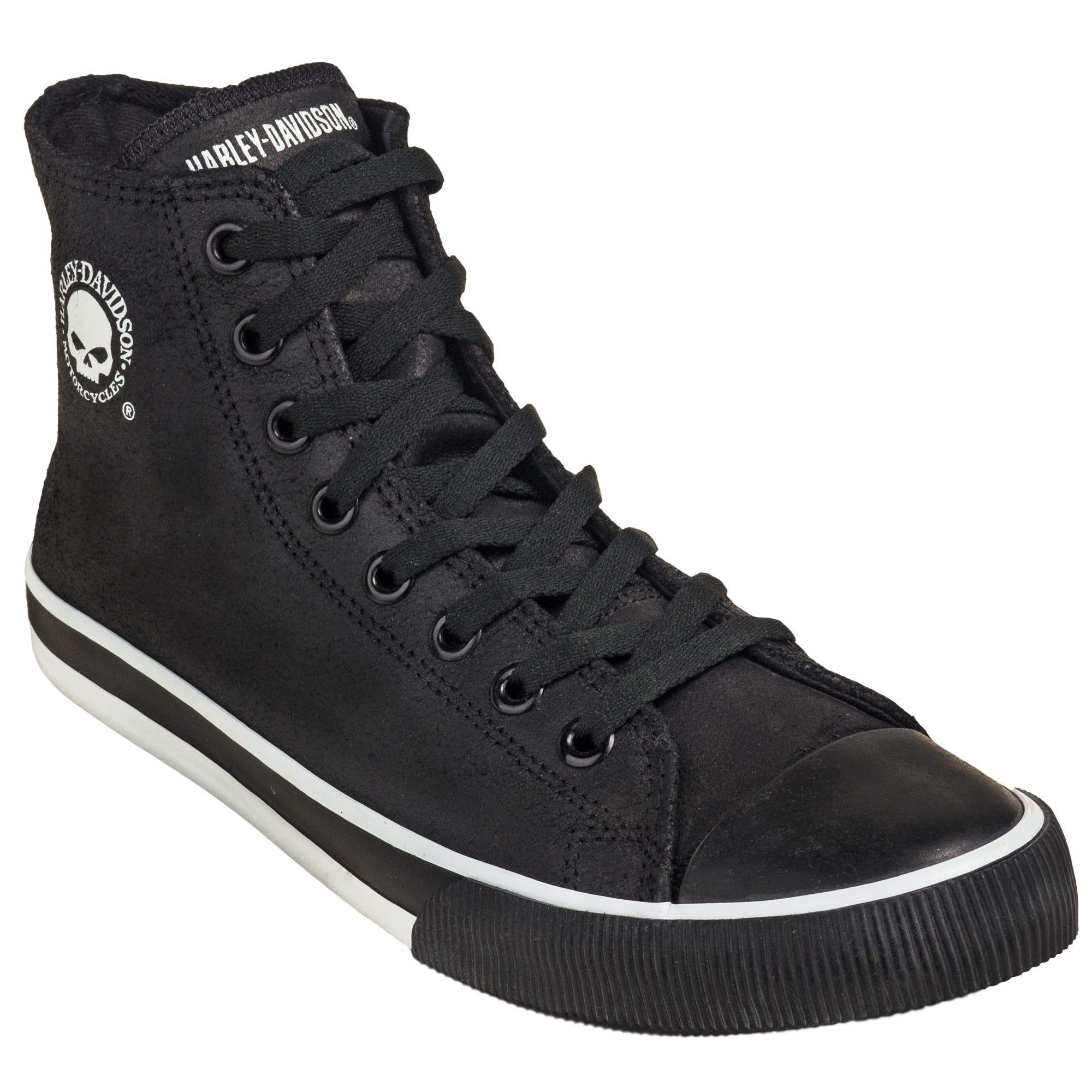 Harley Davidson Baxter Men's Black/White D93341 High-Cut Sneakers
