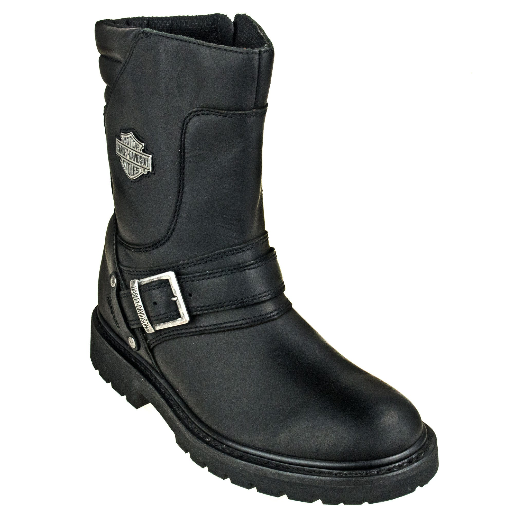 7e3a4a72349d19 Harley Davidson Boots  Men s Black 95194 Booker Side Zip Boots ...