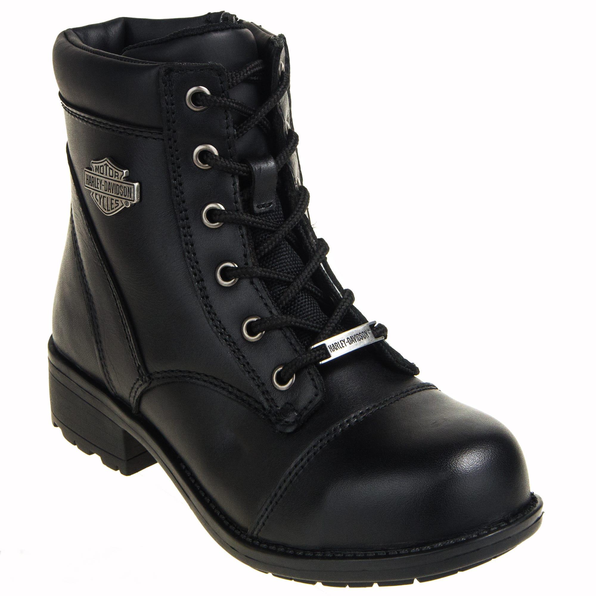 Harley Davidson Women's Steel Toe Black 83883 Raine Work Boots