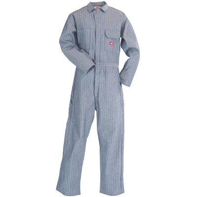 Dickies Work Clothes: Fisher Stripe Unlined Coveralls 48977 FS Sale $40.00 Item#48977FS :
