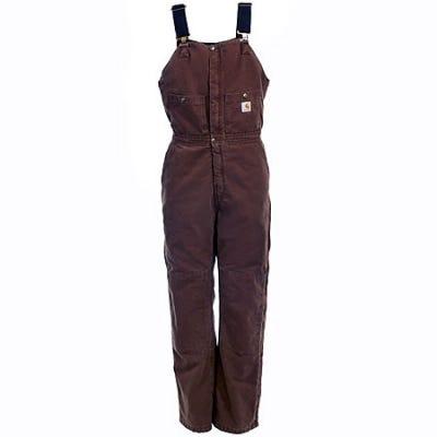 Carhartt Overalls: Women's Quilt Lined Bib Overalls WR027 DKB Sale $90.00 Item#WR027DKB :