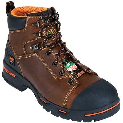 Timberland PRO Boots: Men's Endurance PR Brown 47591 EH Steel Toe Work Boots