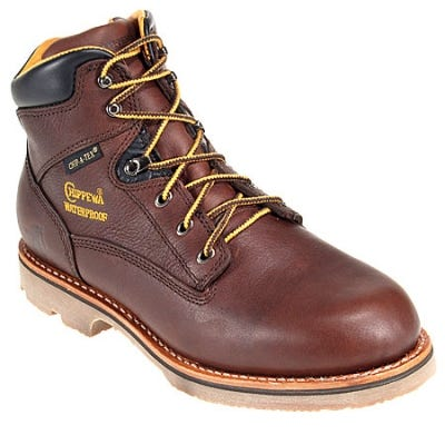 Chippewa Boots: Men's Insulated 72125 Waterproof  Brown Work Boots