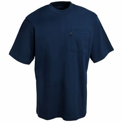Key Clothing Navy Heavyweight Pocket Short Sleeve T-Shirt 820 40