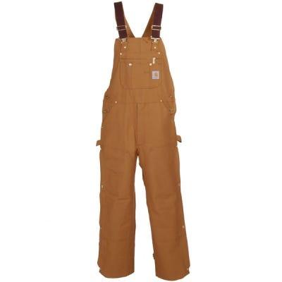 Carhartt Overalls: Double Knee Duck Bib Overalls R37 BRN Sale $70.00 Item#R37BRN :