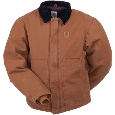 Carhartt Jackets: Men's Traditional Sandstone Arctic Quilt Lined Jacket J22 211 Sale $95.00 Item#J22-211 :