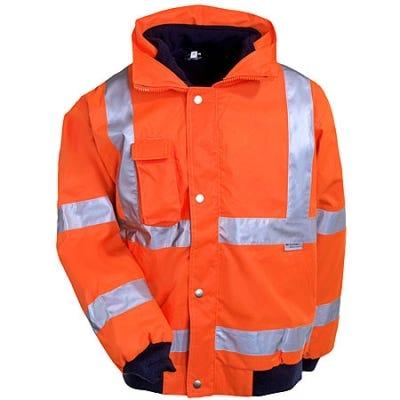 Ergodyne Jacket: GloWear Class 3 Orange Bomber Jacket 8380 Sale $99.00 Item#8380-ORG :