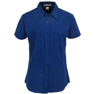 Port Authority Women's Mediterranean Blue Short Sleeve Shirt L508 MDB