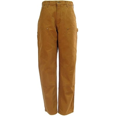 Carhartt Pants: Men's B136 BRN Brown Double Front Duck Dungaree Work  Pants