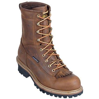 Carolina Boots: Men's Brown CA8824 EH Waterproof Logger Work Boots