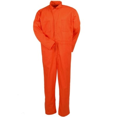 Red Kap Coveralls: Orange Twill Action Back Coveralls CT10 OR Sale $30.00 Item#CT10OR :