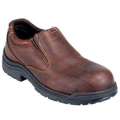 Timberland PRO Boots: Men's TiTAN Brown Oxford 53534 EH Safety Toe Work Shoes