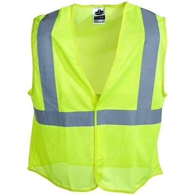 Ergodyne Vests: GloWear Lime Green Class 2 Super Econo Vest 8205HL LIM