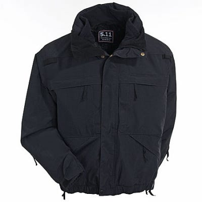 5.11 Tactical Jackets: Men's 5-In-1 Black Tactical Parka 48017 019 thumbnail