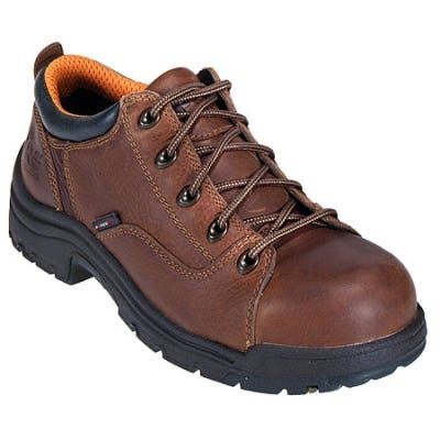 Timberland PRO Boots: Women's TiTAN Oxford 63189 Brown Steel Toe Work Shoes