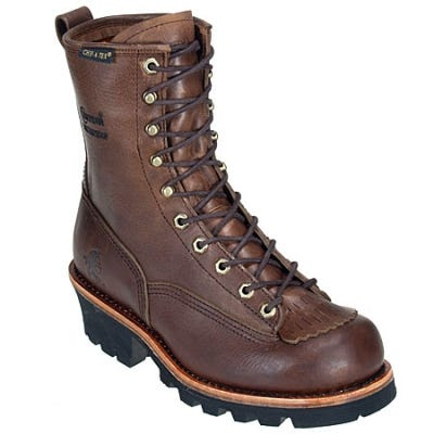 Chippewa Boots: Men's Waterproof Brown 73100 Logger Work Boots