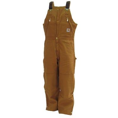 Carhartt Overalls: R38 BRN Quilt Lined Zip-to-Waist Duck Overalls Sale $100.00 Item#R38BRN :