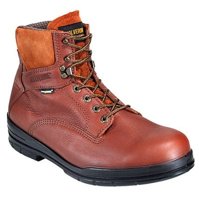 Wolverine Boots Men's Durashock 3122 Slip Resistant Brown Work Boots