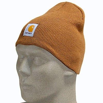 f85d2127c8 Sale Carhartt Hats- Brown Acrylic Winter Beanie Hat A205 BRN ...