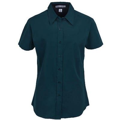 Port Authority Women's Dark Green Short Sleeve Shirt L508 DGR