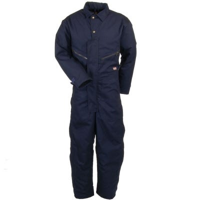 Red Kap Coveralls: Men's Navy Insulated CD32 ND Cotton Blend Coveralls Sale $102.00 Item#CD32ND :