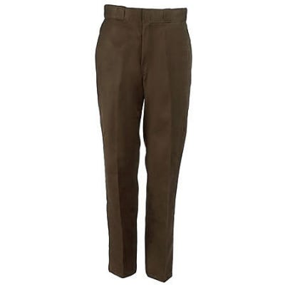 Dickies Work Clothes: Men s Poly Blend Flat Work Pants 874DB - 34x28