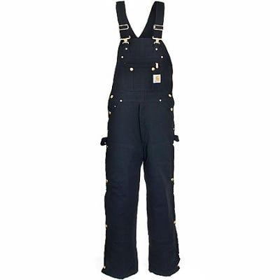 Carhartt Overalls: Men's Black R41 BLK Zip to Hip Quilt Lined Overalls Sale $95.00 Item#R41BLK :
