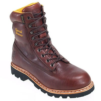 Chippewa Boots: Mens Waterproof 25950 Brown Insulated Work Boots