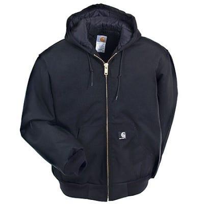 Carhartt Jackets: Quilt-Lined Hooded Work Jacket J133 BLK Sale $95.00 Item#J133BLK :