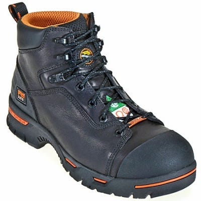 Timberland Pro Boots Men's Endurance PR Black 47592 EH Steel Toe Work Boots