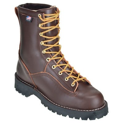 Danner Boots: Mens USA-Made 10600 Brown Waterproof Rain Forest Work Boots