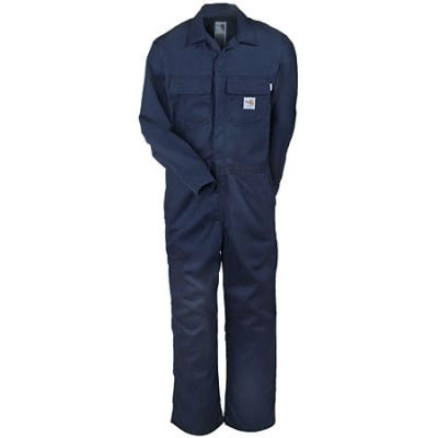 Carhartt Men's Dark Navy Flame Resistant Twill Coverall FRX010