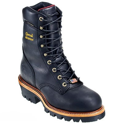 Chippewa Boots: Men's Steel Toe 25410 Insulated Waterproof Logger Work Boots