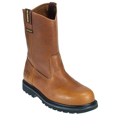 Caterpillar Boots: Mens 89882 Steel Toe Leather Wellington Work Boots