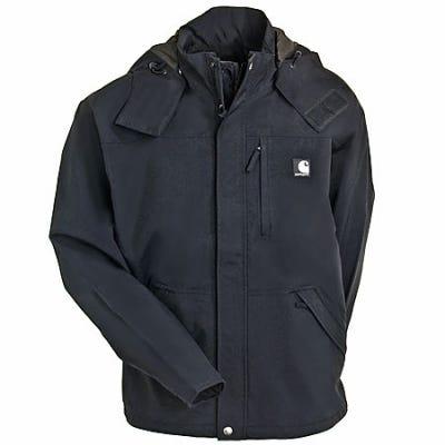 Carhartt Jackets: Men's J162 001 Black Waterproof Breathable Jacket Sale $120.00 Item#J162-001 :