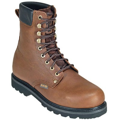 Gear Box Boots: Men s Padded 8 Inch Leather Work Boots 825 - 11EE