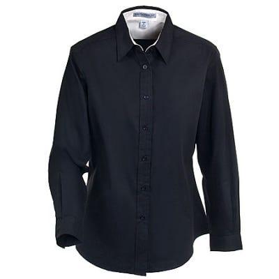 Port Authority Women's Black Easy Care Woven Shirt L608 BLK